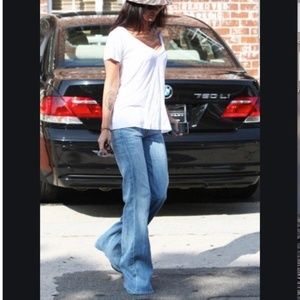 Fidelity Denim Vienne high rise wide leg jean